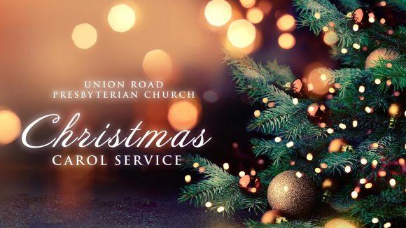 Christmas Carol Service and image of Christmas Tree