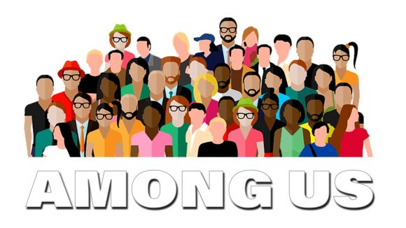 Illustration of a crowd - Among us